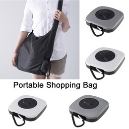 plastic folding Australia - Rotary Grocery Shopping Bag Folding Portable Environmentally Friendly Large Nylon Storage Bag Plastic Storage Box Creative Gift