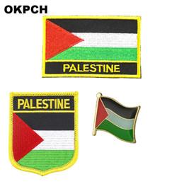 $enCountryForm.capitalKeyWord NZ - Palestine flag patch badge 3pcs a Set Patches for Clothing DIY Decoration PT0027-3