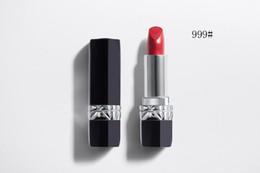 Natural Coloured Lipstick Australia - Huda Lip Makeup Matte Mini Dr Beauty 999 Red Rouge Lipstick Couture colour From Satin to Matte Metal Comfort Wear Colourpop Lipsticks Kit