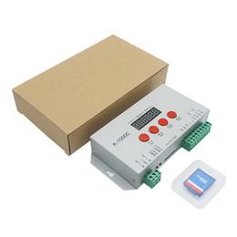 Discount card programmable - K-1000C 2048 pixels addressable led controller for WS2811 WS2812b SPI DMX address Programmable RGB Controller SD Card of