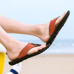$enCountryForm.capitalKeyWord Australia - fashion designer sandals Leather flip-flops causal Non-slip summer huaraches slippers flip flops slippers summer outdoor beach slippers