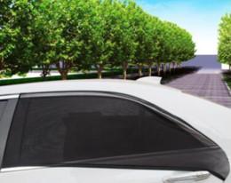 Glasses Sun Protection Australia - Free shipping 2Pcs Car Side Rear Windshield Window Glass Sun Shade Mesh Cover Solar UV Protection Visor Shield Sunshade Auto Accessories