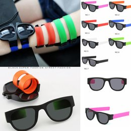 7styles Frauen Slap Sonnenbrille faltbare Sonnenbrille Männer polarisierte Slapable Bracelet Wristband Fold Shades Fashion Mirror Oculos FFA2248