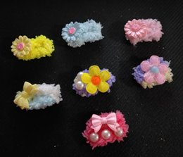 Dog Grooming Hair Clip Australia - 2019 Hand wrapped with pet hair clips dog Teddy Yorkshire Maltese head flower headwear clip Grooming Accessories