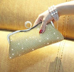 Ladies Evening Handbags Australia - evening dinner Ring Handbags Mini fashion Banquet Clutches Luxurious gold and Silver Bridal purse shoulder bags for ladies with diamonds