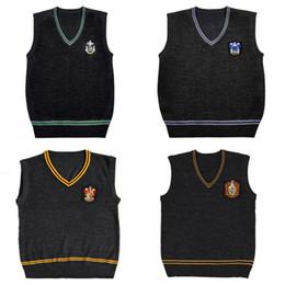 93eb82688b3fc Harry Potter Camisola Colete Com Decote Em V Escola de Magia Colete  Slytherin Gryffindor Ravenclaw Cosplay Blusas Camisola Das Mulheres Dos  Homens Uniforme
