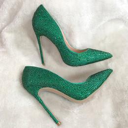 $enCountryForm.capitalKeyWord Canada - Casual Designer Sexy lady fashion green satin strass crystal point toe high heels pumps 12cm 10cm 8cm Stiletto heeled bride wedding shoes