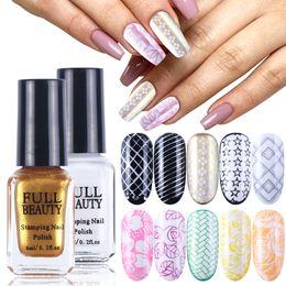 $enCountryForm.capitalKeyWord Australia - 6ml Stamping Polish Nail Art Varnish Stamp Nail Polish Image Plate Colorful Printing Gel Lacquer Pure Color Manicure JI961