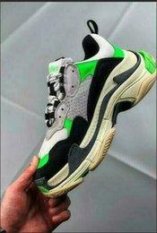 Cheap Leisure Shoes For Men Australia - high top cheap for men purple Casual Shoes Dad Shoe Triple S Sneakers for2109 Men Women Unveils Trainers Leisure Retro Training Old Grandpa
