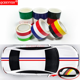 Fiber Italy NZ - uto accessories QCBXYYXH Car-styling 7.5 15cm*100cm German France Italy Flag 3 Colors Stripe Decal Bumper Car Body Stickers Auto Accessor...