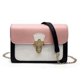 $enCountryForm.capitalKeyWord Australia - Fashion Lady Square Bag 2019 New Handbags High-quality Pu Leather Women Bags Hit Color Lock Handbags Chain Shoulder Bag Phone Bag