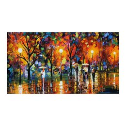"hand painted romantic canvases UK - 36""*24"" Forest landscape hand-painted canvas mural decoration romantic walk in the woods the sitting room porch decoration study"