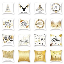 18 inch cushions online shopping - 2020 New Year Styles Home Sofa Throw Pillow Cotton Linen Cushion Case Merry Christmas Decoration quot x quot Inch Xmas Pillowcase M827F