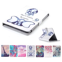 Nexus Case Leather Pu Australia - Cartoon Printed Universal 7 inch Tablet Case for Huawei MediaPad T3 M2 7.0 Cases kickstand PU Leather Flip Cover Cases