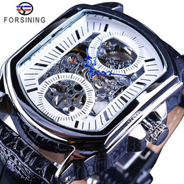 Wholesale 1 Authentic winner hollow hollow square automatic mechanical watch men s belt watch watch luminous decoration a generation of hair