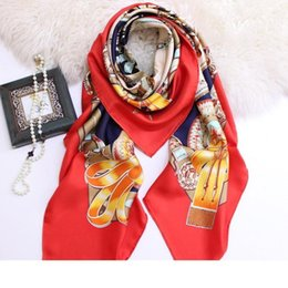 quality beach wraps Australia - Designer Luxury Designer Large Silk Scarves 135*135cm High Quality Square Scarfs And Shawls Wraps Hijabs Pashmina Beach Coverup Autumn Muffl