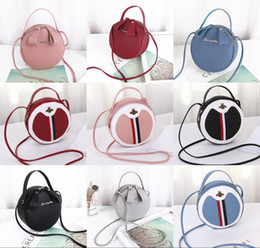 Discount baby girl mini handbag - 2019 With Tassels Pendant Round Bag Fashion Leisure Quilting Bag Girls Casaul PU Handbags Baby Mini Bags One-Shoulder Ob