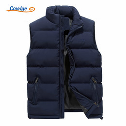 padded vests men Canada - Covrlge Vest Winter Men's Fashion Outerwear Leisure Casual Vest Coat Warm Cotton-Padded Men's Men Thicken Waistcoat MWB013