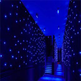 $enCountryForm.capitalKeyWord Australia - Luxury 4X 8 Meters Blue-White Color LED Star Curtain Wedding Stage Backdrop Cloth For Wedding Party Dance Decoration