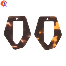 leopard jewelry accessories UK - wholesale 50Pcs 30*37MM Earring Accessories Irregular Shape Rubber Leopard Print Effect DIY Jewelry Making Earring Findings