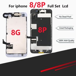 $enCountryForm.capitalKeyWord NZ - Premium Full LCD Assembly For iPhone 8 8 Plus Full Display with 3D Touch Screen and Front Camera Home Button Spare Parts
