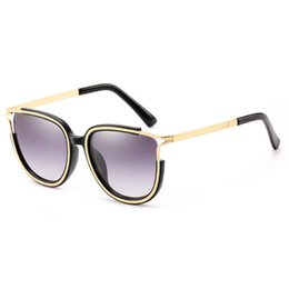 summer sunglasses uv UK - High-end Women's Square Sunglasses Brand designer Summer style ladies sunglasses ladies gold frame sunglasses anti-UV fashion mixed color