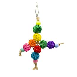 Bird Climbing Toys NZ - Small And Medium Parrot Toys Bird Toys Colour Sepaktakraw To Climb Gnawing String Cage Toys Amazon Cross Border