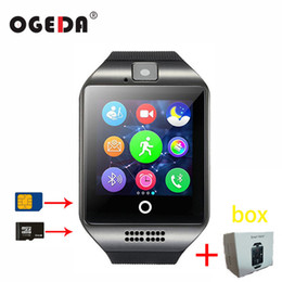 $enCountryForm.capitalKeyWord Australia - Smart Watch Q18 Sim Sd Card Phone Camera Mtk6261 Bluetooth Touch Screen Smartwatch For Ios Android Wear Watch For Men Clock Y19070603