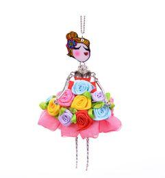 $enCountryForm.capitalKeyWord NZ - New women doll cute Silver Flower long necklaces & pendant hot dress baby girls maxi necklace brand fashion statement jewelry