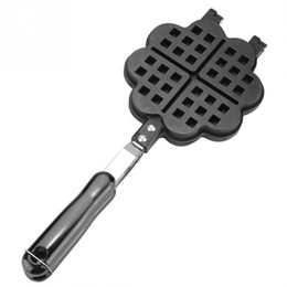 $enCountryForm.capitalKeyWord Australia - DIY Heart-shaped Egg Waffle Cake Mold Cake Pan Nonstick Double Side Biscuits Muffin Mould Pot Bakeware Baking Tools