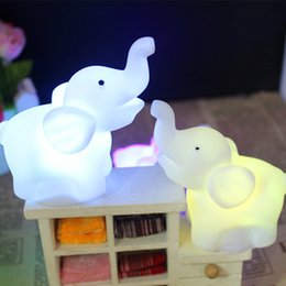 Cartoon Party Decorations Australia - Sale Elephant Festival Night Light Promotional Cartoon 7 Color Changing Home Supplies LED 1PC New Lamp Cute Party Decoration