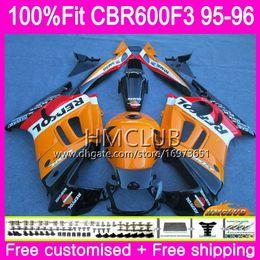 $enCountryForm.capitalKeyWord Australia - 100%Fit Injection For HONDA CBR600RR CBR 600F3 CBR 600 F3 95 96 77HM.2 CBR600FS CBR600 F3 FS CBR600F3 1995 1996 OEM Fairing Repsol orange