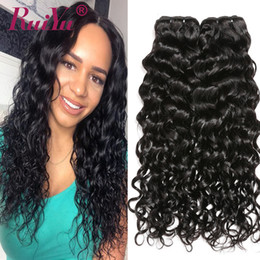 malaysian wavy human hair Canada - Brazilian Wet and Wavy Hair 3Bundles Water Wave Loose Deep Wave Virgin Human Hair Bundles 8A 100% Brazilian Curly Human Hair Weave Wefts