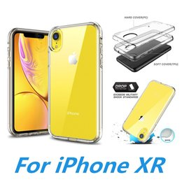 Crystal Clear Phone Cases Australia - Transparent Crystal Clear Phone Case For iPhone Xs Max Xr X 8 7 6S Hybrid PC + Soft TPU Slim Cover For Samsung S10 Plus J3 J4 J7 2018 Note 9
