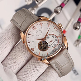 $enCountryForm.capitalKeyWord Australia - New Kalpa Tourbillon Grand Complication White Dial Automatic Mens Watch Rose Gold Case Gray Leather Strap High Quality Watches Hello_watch