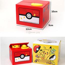 Stealing coin money box online shopping - New Pokemons Pikachu Electronic Plastic Money Box Steal Coin Piggy Bank Money Safe Box For Kids Gift Desk Toy