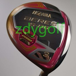 Gold Golf clubs online shopping - golf club honma s women gold powder fairway wood graphite dedicated shaft R