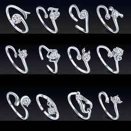 $enCountryForm.capitalKeyWord NZ - Zodiac plated 925 silver rings Female opening CZ Ring couple ring finger luxury designer jewelry women rings Twelve constellations dropship