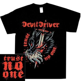 driver bits NZ - DevilDriver Bite The Hand Shirt S-3XL Metal T-Shirt Official Devil Driver T Shirt New Brand-Clothing Plus Size Top Tee