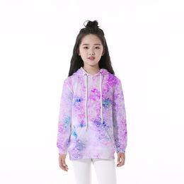 Galaxy Sweatshirt Brand NZ - Kids Hoodie Space Galaxy 3D Digital Full Print Casual Boy Girl Hooded Sweatshirt Children Long Sleeves Unisex Sweatshirts Tops (RLCLM-55012)