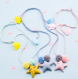 handmade gifts for baby girl NZ - Fashion Handmade Cute Star necklace Little girl children necklace Christmas Gift for Girls Baby Child Kids Jewelry Accessories
