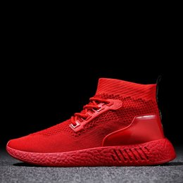 $enCountryForm.capitalKeyWord Australia - Charming2019 Sneakers Season Male Run Soft Bottom Flying Motion Leisure Time Knitting Socks Shoe