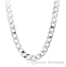 "curb link chain 14k Australia - 925 Sterling Silver Figaro Curb Link chain Necklace 20"" 3 mm 4.9 grams FIG080925 Sterling Silver Comfort Curb 22"" 8.7 MM 48 GRAMS chain Neck"