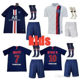 Football Uniforms Australia - new 2019 2020 PARIS kids soccer jersey 19 20 MBAPPE NEYMARJR CAVANI DANI AES DI MARIA jerseys top quality uniforms football shirt