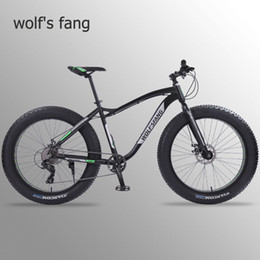 aluminum bmx bicycle Australia - Wolf's fang new Bicycle Mountain bike 26 inch Fat Bike 8 speeds Fat Tire Snow Bicycles Man bmx mtb road bikes free shipping