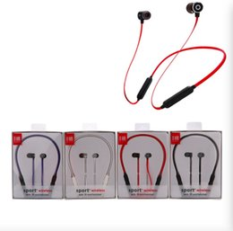 Wholesale G16 bluetooth headphones wireless Sports Running Headsets Neckband Earbuds With Mic for iphone samsung with retail box