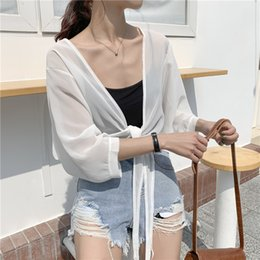 Service Clothes Australia - Outdoor sun protection clothing female summer new thin coat long sleeve small shawl outside chiffon cardigan air conditioning service