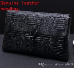 $enCountryForm.capitalKeyWord Australia - Factory own brand men bag business crocodile pattern leather envelope clutch bag man must embossed leather clutch fashion clamshell leather