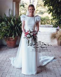 $enCountryForm.capitalKeyWord UK - Sexy Backless Plus Size Mermaid Wedding Dresses 2020 Scoop Polka Dot Ruffles Greek Arabic Country Beach Wedding Bridal Gowns