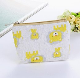 Min Cards Australia - 20pcs Elephant Lion Printed Vintage Zipper Pencil Case Cute Portable Min Key Coin Purse Makeup Bag